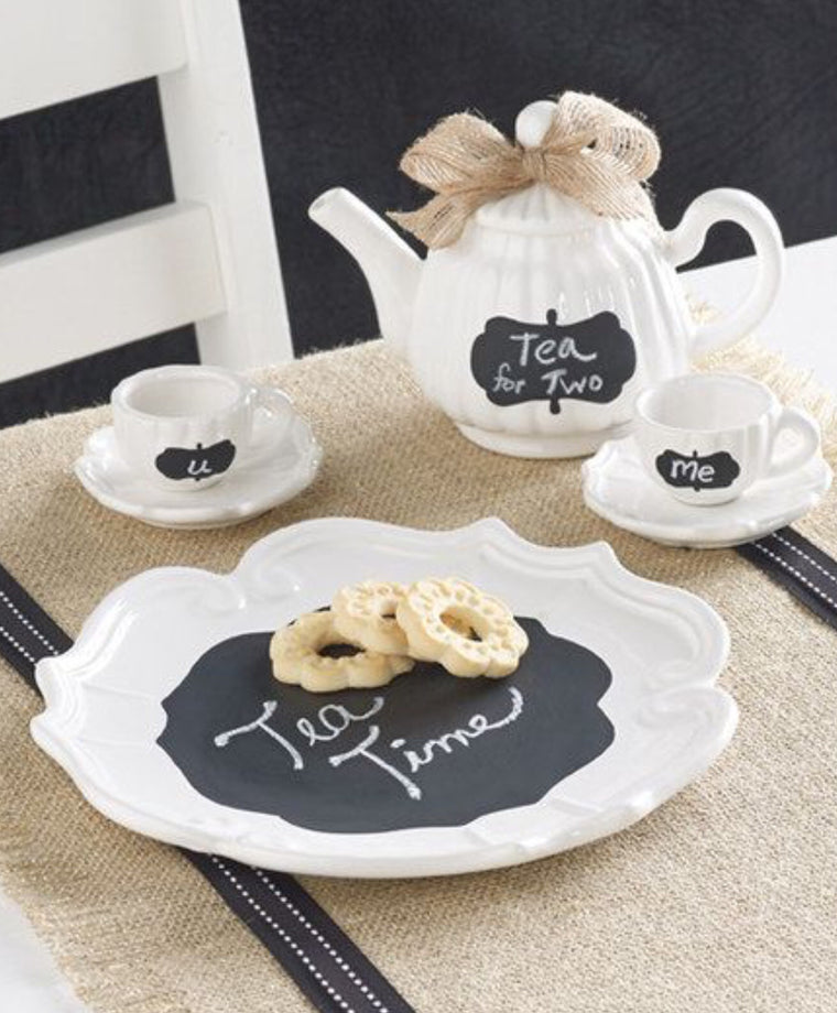 Chalkboard Tea Set