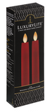 Resin Led Taper Candle  2 Pc