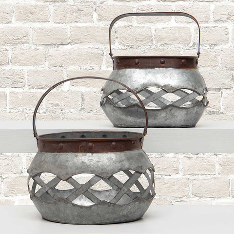 Metal Lattice Basket Small