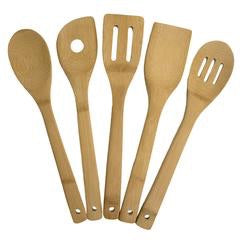 5 Pc Bamboo Cooking Utensil Set