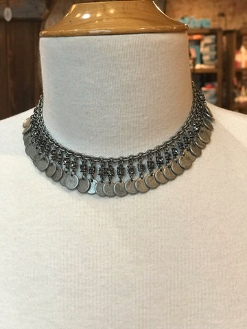 Chill Out Choker In Ant Silver