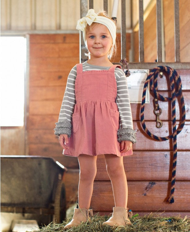 Corduroy Overall Pinafore Dres