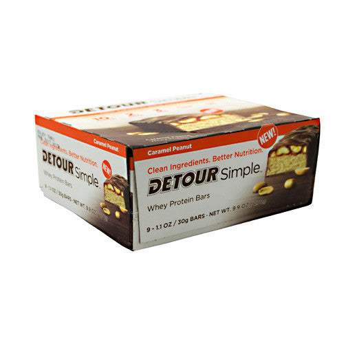 Detour SImple Bar - Caramel Peanut - 9 Bars - 733913010285