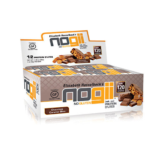 NoGii Protein DLites - Chocolate Caramel Bliss - 12 Bars - 810756020326