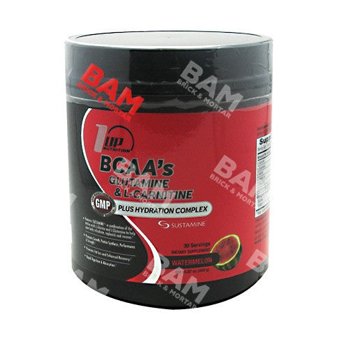1 UP Nutrition BCAAs Glutamine and L-Carnitine - Watermelon - 30 Servings - 808574107114