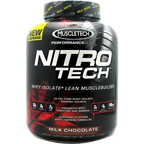 MuscleTech Performance Series Nitro-Tech - Milk Chocolate - 4 lb - 631656703283