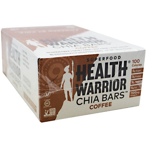 Health Warrior Chia Bar - Coffee - 15 Bars - 852684003149