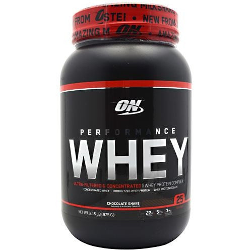 Optimum Nutrition Performance Whey - Chocolate Shake - 2.15 lb - 748927023459
