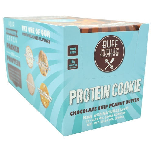 Buff Bake Protein Cookie - Chocolate Chip Peanut Butter - 12 ea - 857697005579