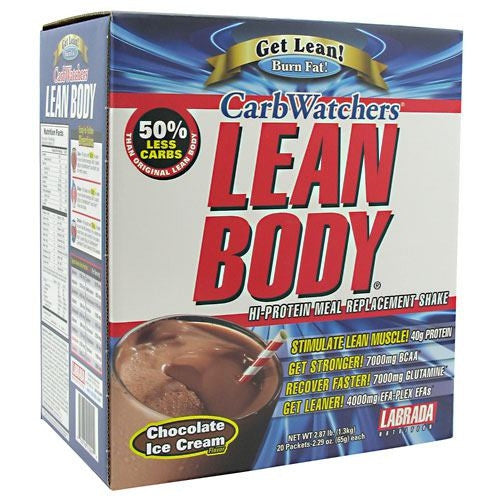 Labrada Nutrition Carb Watchers Lean Body - Chocolate Ice Cream - 20 ea - 710779112414