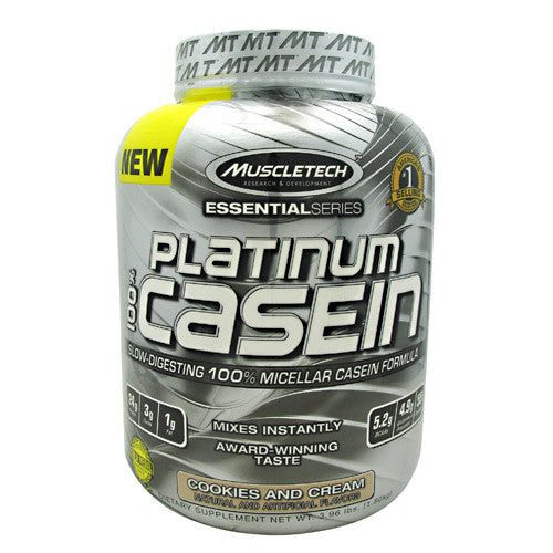MuscleTech Essential Series 100% Platinum Casein - Cookies and Cream - 3.96 lb - 631656707427