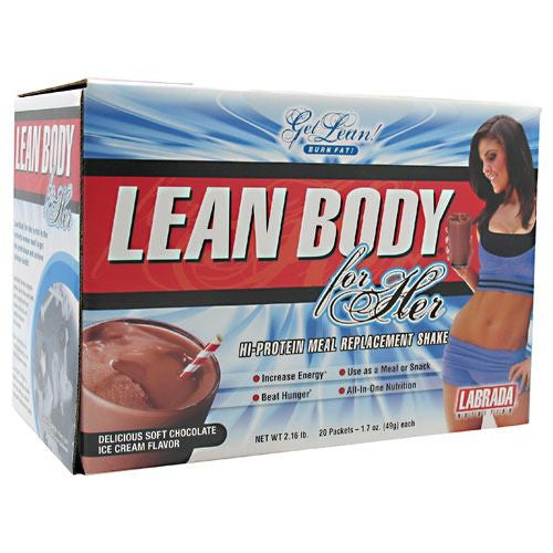 Labrada Nutrition Lean Body for Her - Delicious Soft Chocolate Ice Cream - 20 Packets - 710779112391