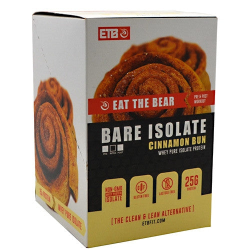 Eat The Bear Whey Pure Isolate Protein - Cinnamon Bun - 10 Servings - 637262797180