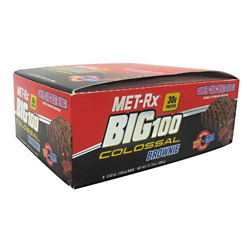 MET-Rx Big 100 Colossal - Super Chocolate Fudge - 9 Bars - 786560576680
