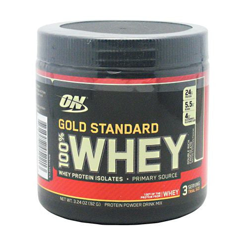 Optimum Nutrition Gold Standard 100% Whey - Double Rich Chocolate - 3 Servings - 748927052213