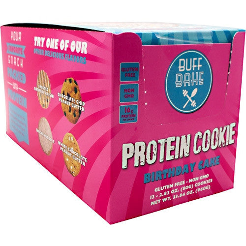 Buff Bake Protein Cookie - Birthday Cake - 12 ea - 857697005937