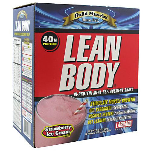 Labrada Nutrition Lean Body - Strawberry Ice Cream - 20 ea - 710779112469