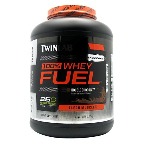 TwinLab 100% Whey Fuel - Double Chocolate - 5 lb - 027434038140