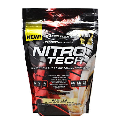 MuscleTech Performance Series Nitro-Tech - Vanilla - 1 lb - 631656709476