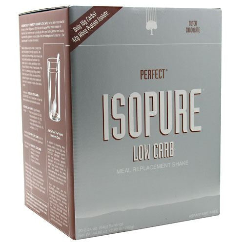 Natures Best Perfect Low Carb Isopure - Dutch Chocolate - 20 Servings - 089094021634