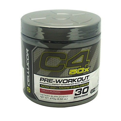 Cellucor G4 Chrome Series C4 50x - Fruit Punch - 30 Servings - 810390026067