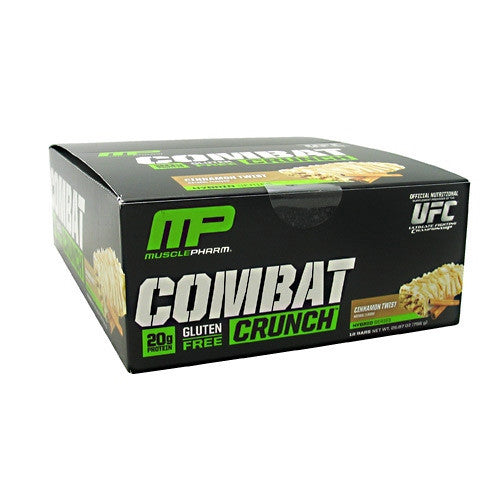 Muscle Pharm Hybrid Series Combat Crunch - Cinnamon Twist - 12 Bars - 748252105172