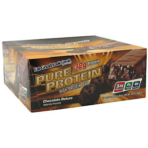 Worldwide Sport Nutritional Supplements Pure Protein High Protein Bar - Chocolate Deluxe - 12 Bars - 749826125657