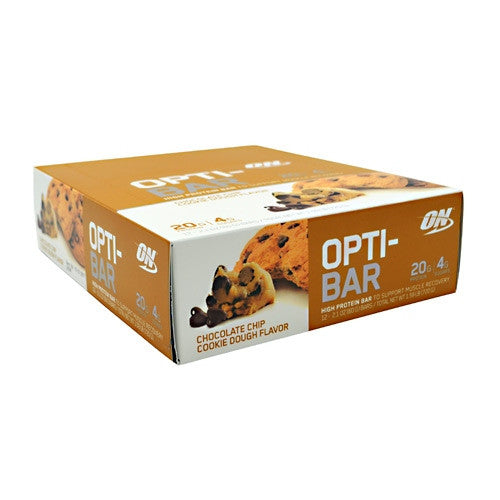 Optimum Nutrition Opti-Bar - Chocolate Chip Cookie Dough - 12 Bars - 748927952810
