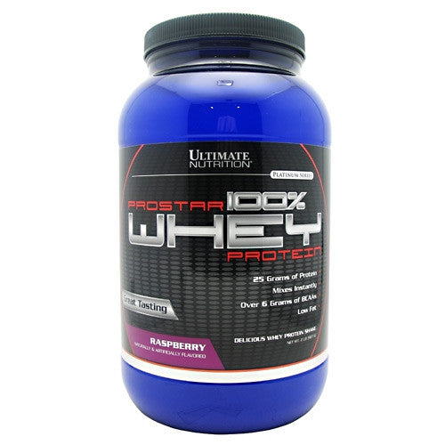 Ultimate Nutrition ProStar 100% Whey Protein - Raspberry - 2 lb - 099071001382