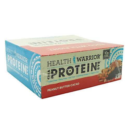 Health Warrior Chia Protein Bar - Peanut Butter Cacao - 12 Bars - 852684003460