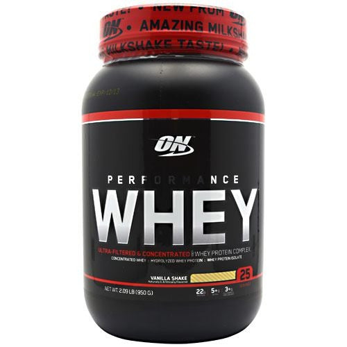 Optimum Nutrition Performance Whey - Vanilla Shake - 2.09 lb - 748927023978