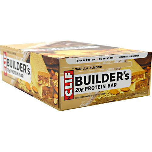 Clif Builders Cocoa Dipped Double Decker Crisp Bar - Vanilla Almond - 12 ea - 722252600455
