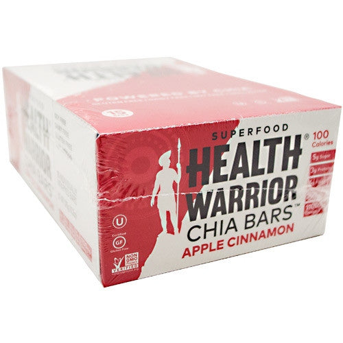 Health Warrior Chia Bar - Apple Cinnamon - 15 Bars - 852684003163