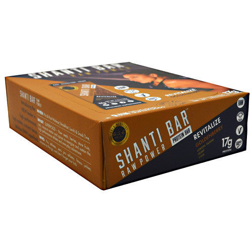 Shanti Bar Raw Power Protein Bar - Immunity Goldenberry - 12 Bars - 857618004216