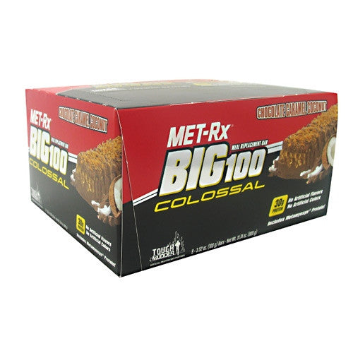 MET-Rx Big 100 Colossal - Chocolate Caramel Coconut - 9 Bars - 786560557054
