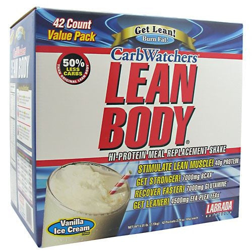 Labrada Nutrition Carb Watchers Lean Body - Vanilla Ice Cream - 42 ea - 710779120006