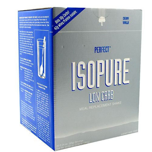 Natures Best Perfect Low Carb Isopure - Creamy Vanilla - 20 Servings - 089094021610