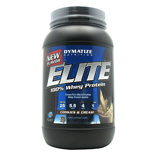 Dymatize Elite 100% Whey Protein - Cookies & Cream - 2 lb - 705016599226