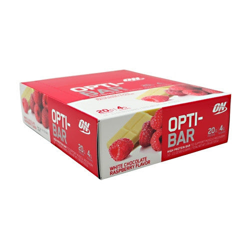 Optimum Nutrition Opti-Bar - White Chocolate Raspberry - 12 Bars - 748927952889