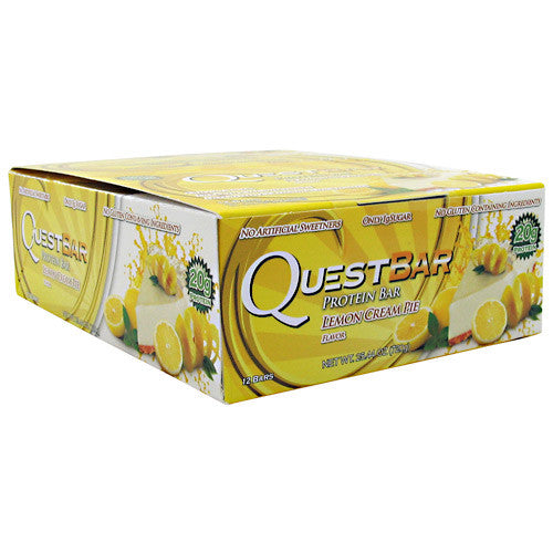 Quest Nutrition Quest Natural Protein Bar - Lemon Cream Pie - 12 Bars - 888849000722