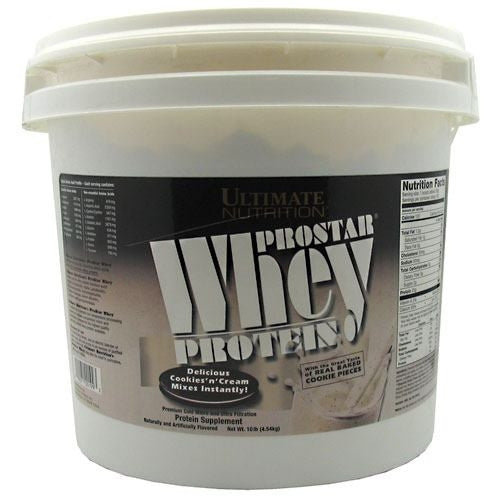 Ultimate Nutrition ProStar Whey Protein - Cookies n Cream - 10 lb - 099071001993