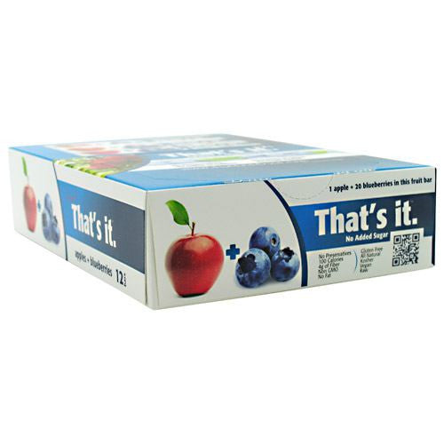 Thats it Nutrition Thats it Bar - Apple + Blueberry - 12 Bars - 850397004149