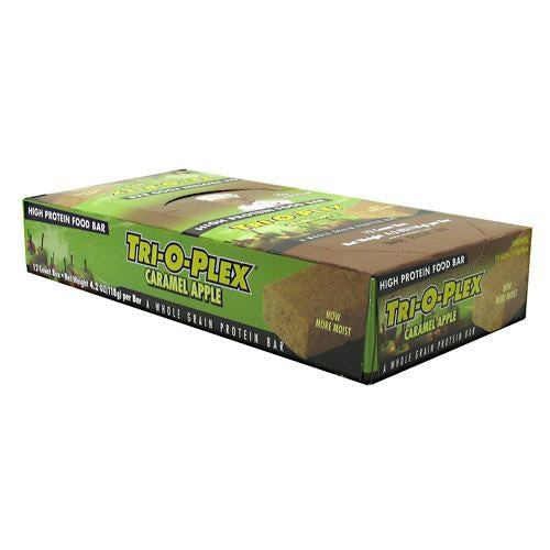 Chef Jays Tri-O-Plex High Protein Bar - Caramel Apple - 12 Bars - 678991000219
