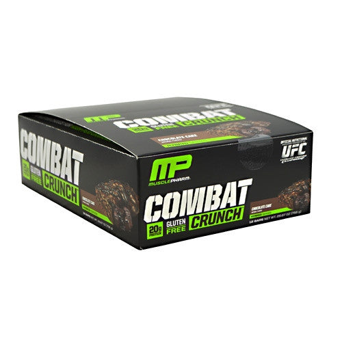 Muscle Pharm Hybrid Series Combat Crunch - Chocolate Cake - 12 Bars - 019962526329