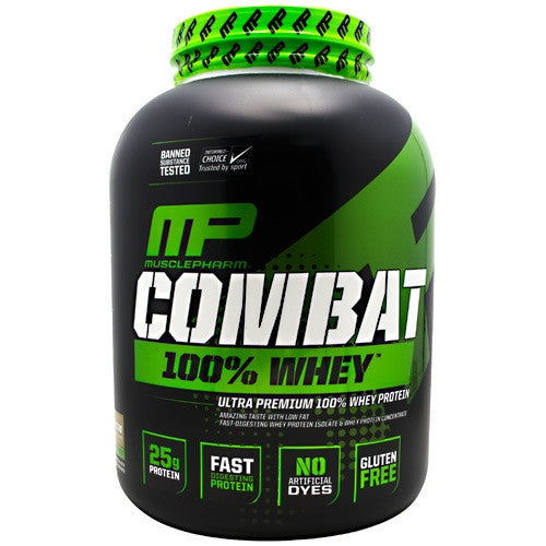 MusclePharm Sport Series Combat 100% Whey - Cappuccino - 5 lb - 653341040619