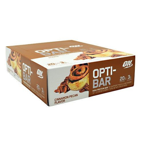 Optimum Nutrition Opti-Bar - Cinnamon Pecan - 12 Bars - 748927952841
