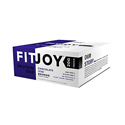 Cellucor FitJoy Bar - Chocolate Iced Brownie - 12 Bars - 810390028115