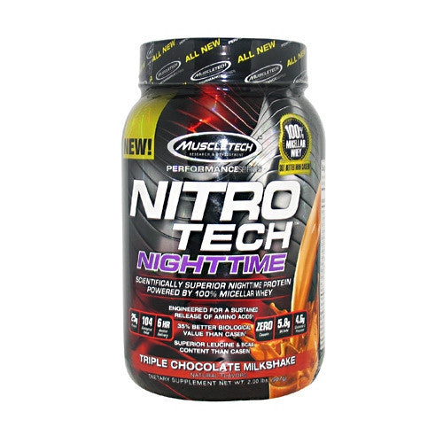 MuscleTech Performance Series Nitro-Tech Night Time - Triple Chocolate Milkshake - 2 lb - 631656710052