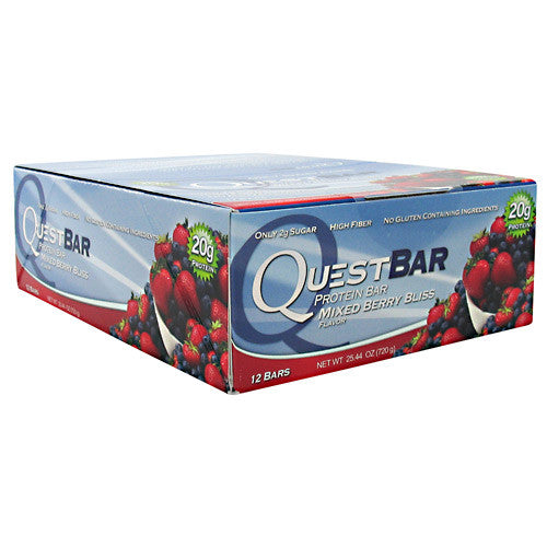Quest Nutrition Quest Protein Bar - Mixed Berry Bliss - 12 Bars - 888849000661
