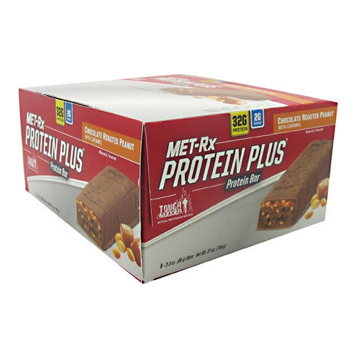 MET-Rx Protein Plus - Chocolate Roasted Peanut with Caramel - 9 Bars - 786560557122